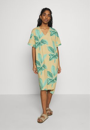 KAFTAN LYSEKIL LEAVES - Kjole - green