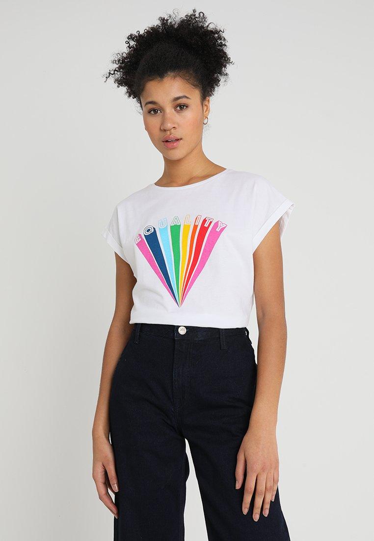 Dedicated - VISBY EQUALITY - T-shirts print - white
