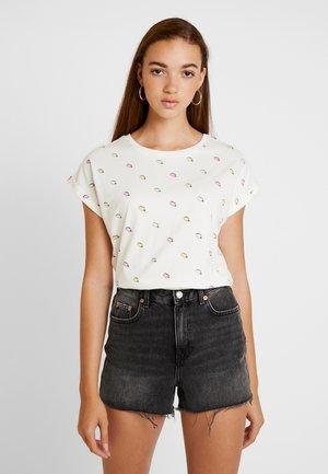 VISBY ICE CREAMS - Camiseta estampada - off-white