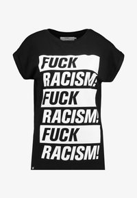Dedicated - VISBY FUCK RACISM - T-shirt con stampa - black - 3