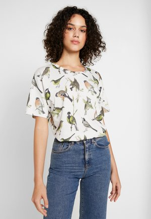 VISBY AUTUMN BIRDS - Camiseta estampada - off-white