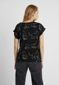 Dedicated - VISBY CAT LINES - T-shirt con stampa - black - 2