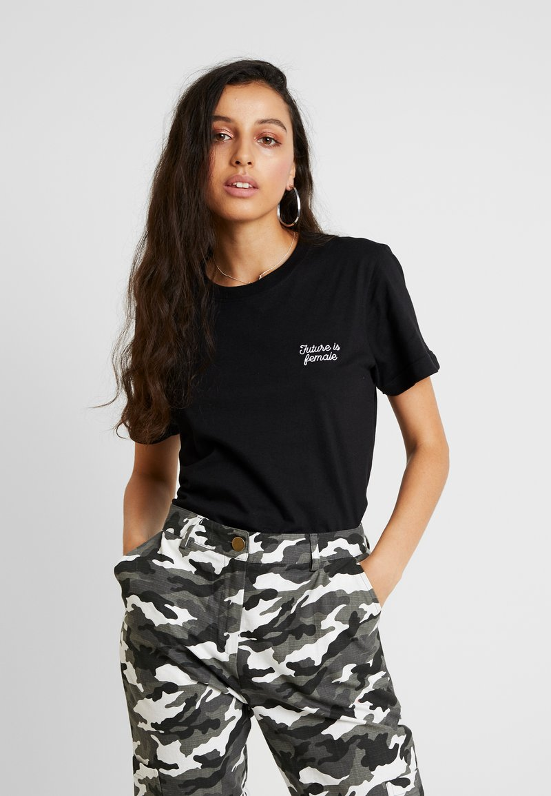 Dedicated - MYSEN FUTURE IS FEMALE - T-shirt con stampa - black