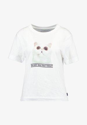 MYSEN OH SHIT - T-shirt print - white