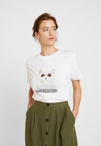 Dedicated - MYSEN OH SHIT - T-shirt print - white - 3