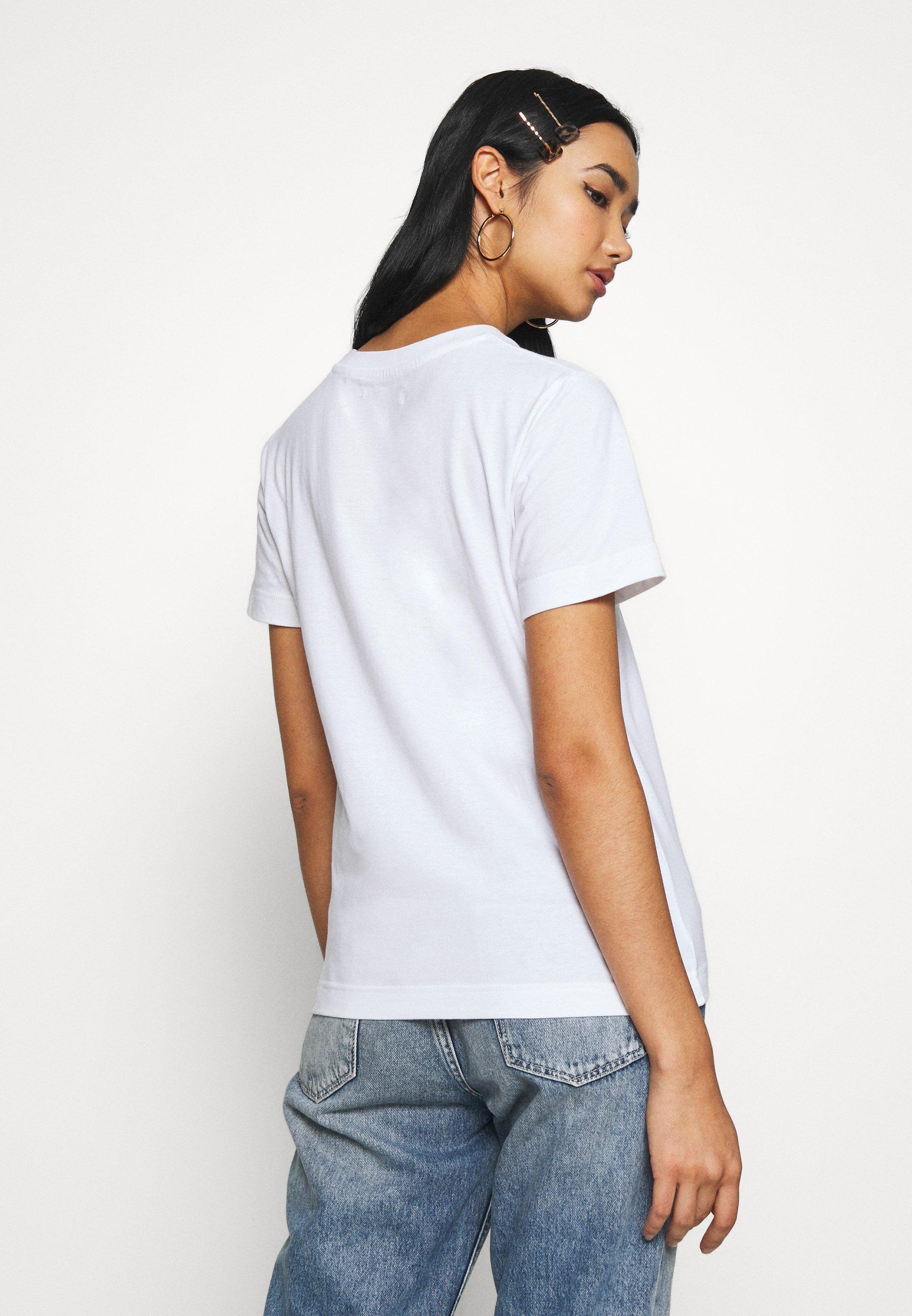 Dedicated MYSEN PALMS - T-shirts med print - white