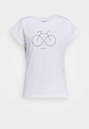 VISBY BIKETERNITY - T-Shirt print - white
