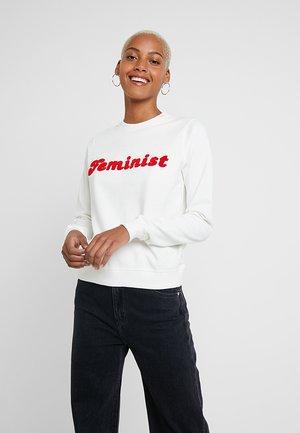 YSTAD FEMINIST - Sweatshirt - off-white