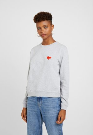 HAPPY HEART - Sweatshirt - grey melange