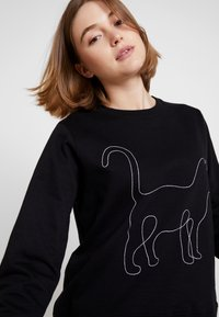 Dedicated - ONE LINE CAT - Sweatshirt - black - 3