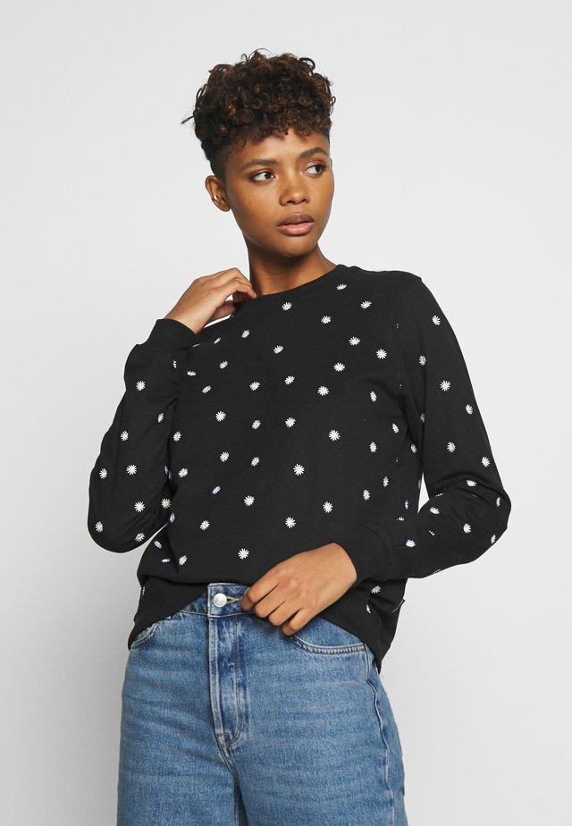 Ystad Flowers - Sweatshirts - black