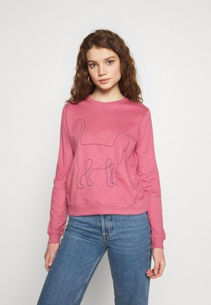 YSTAD ONE LINE CAT - Sweatshirt - rose