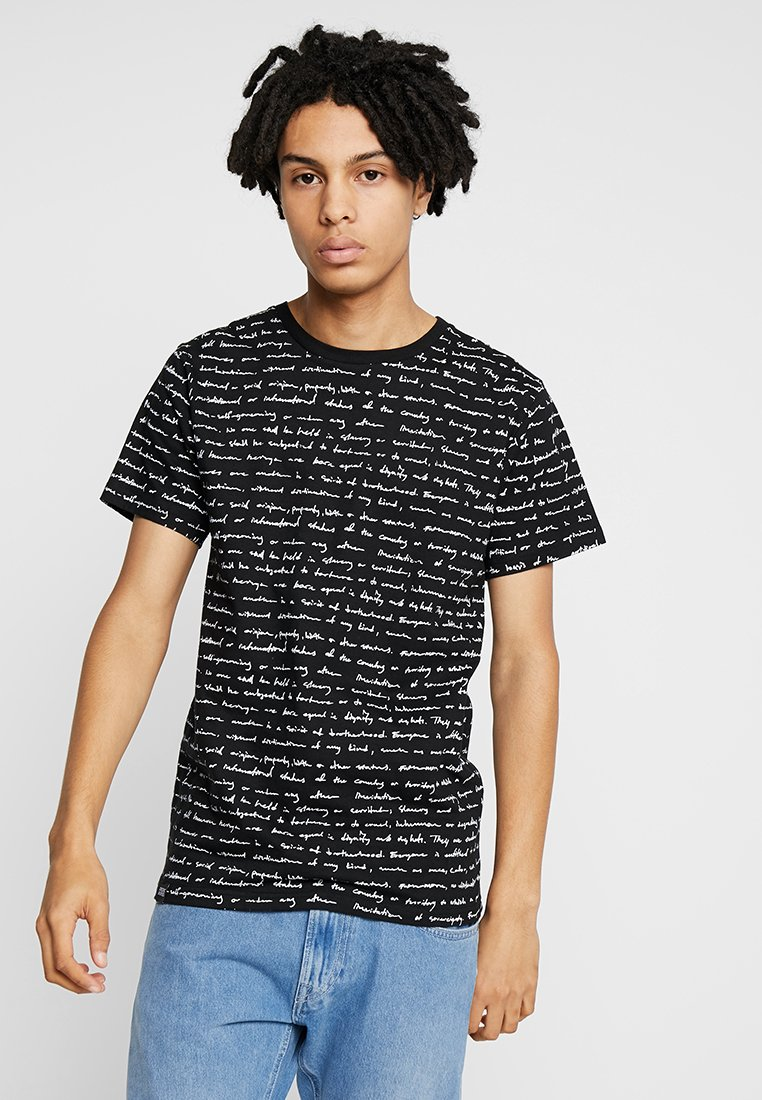 Dedicated - HUMAN RIGTHS - Print T-shirt - black