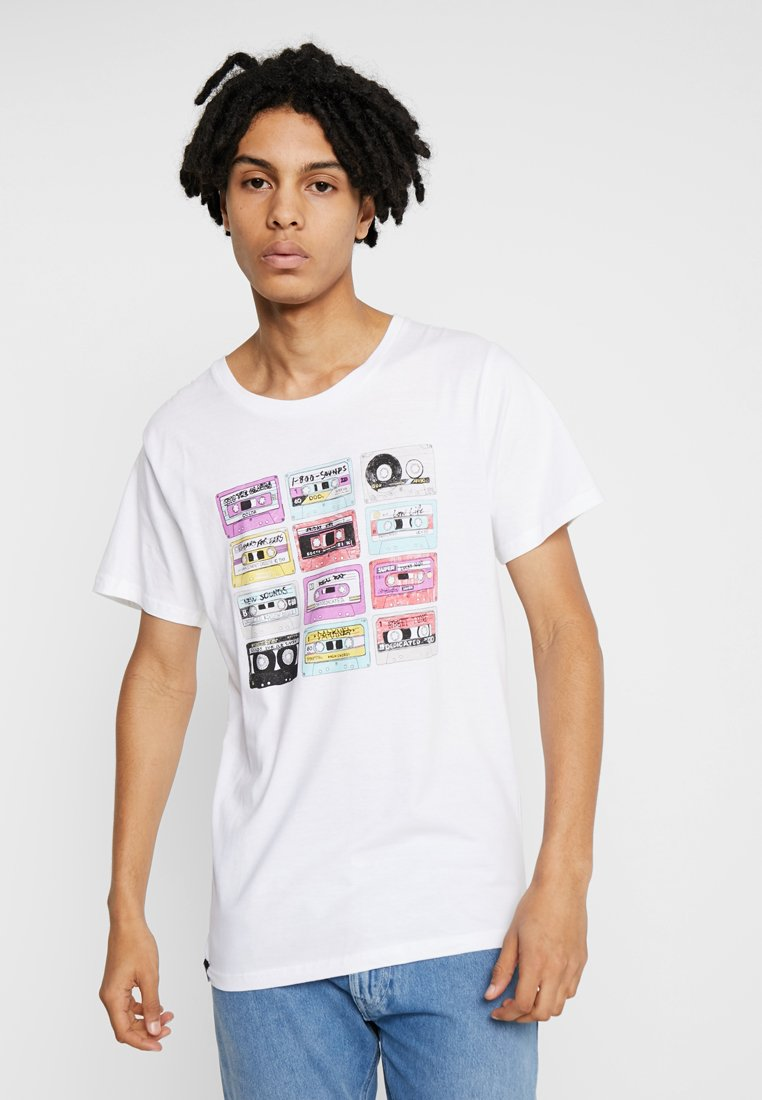 Dedicated - COLOR CASSETTES - T-Shirt print - white