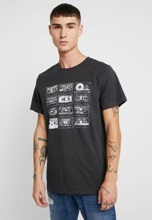 STOCKHOLM TAPE COLLECTION - Camiseta estampada - charcoal