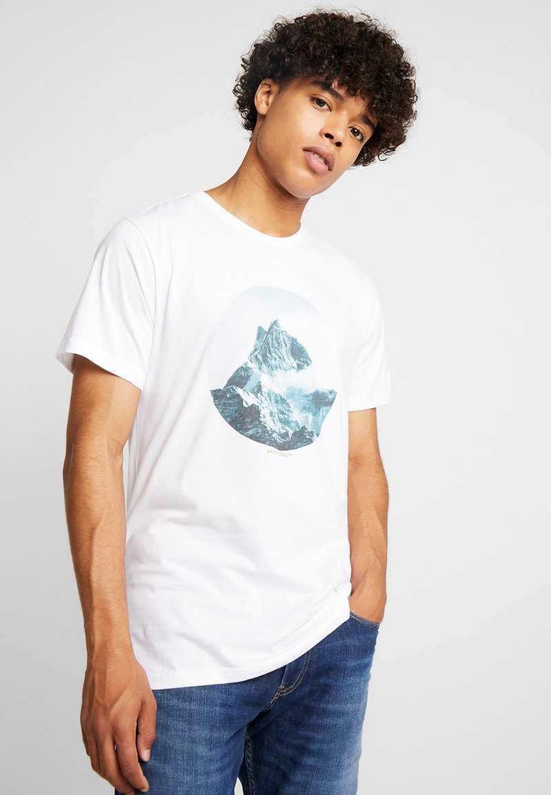 Dedicated - STOCKHOLM BACK TO REALITY - Print T-shirt - white
