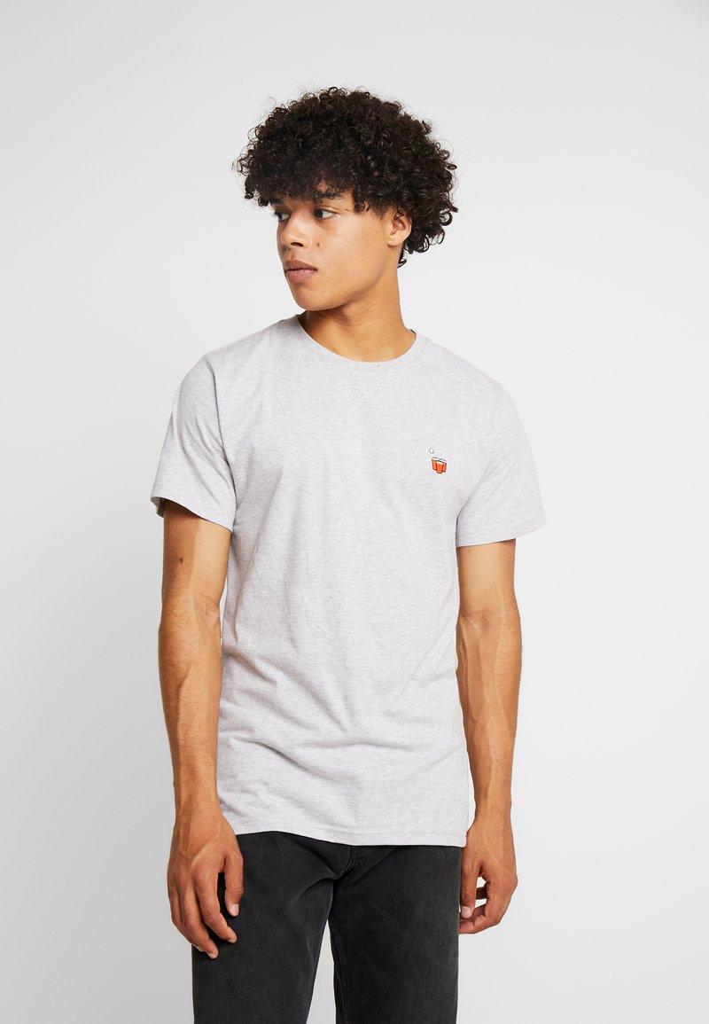 Dedicated - STOCKHOLM BEER CUPS - T-Shirt print - grey melange