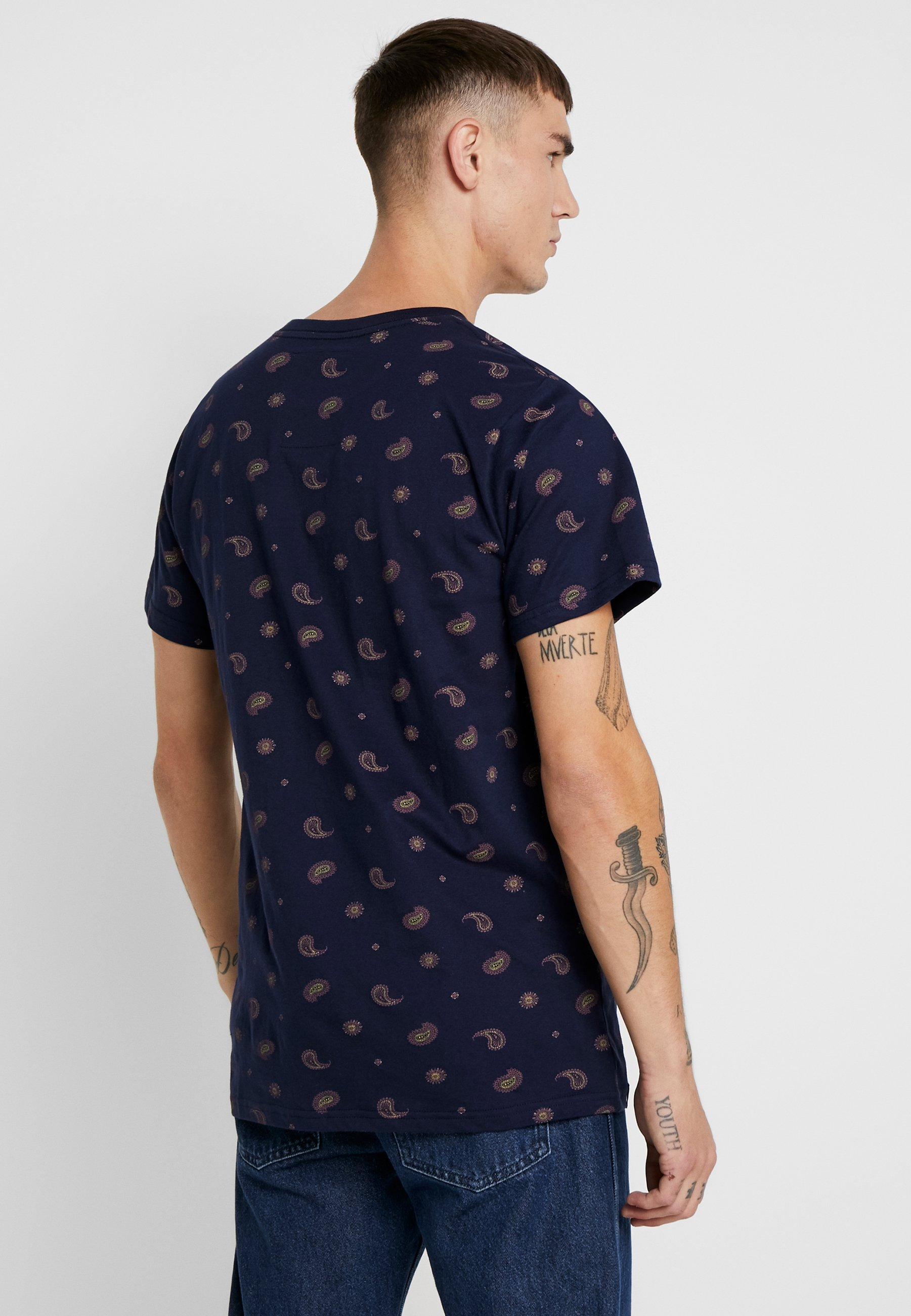 PaisleyT Imprimé Navy Dedicated Stockholm shirt lJcK1TFu3