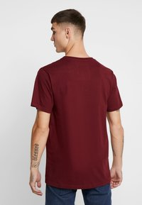 Dedicated - STOCKHOLM STITCH BIKE - Print T-shirt - burgundy - 2