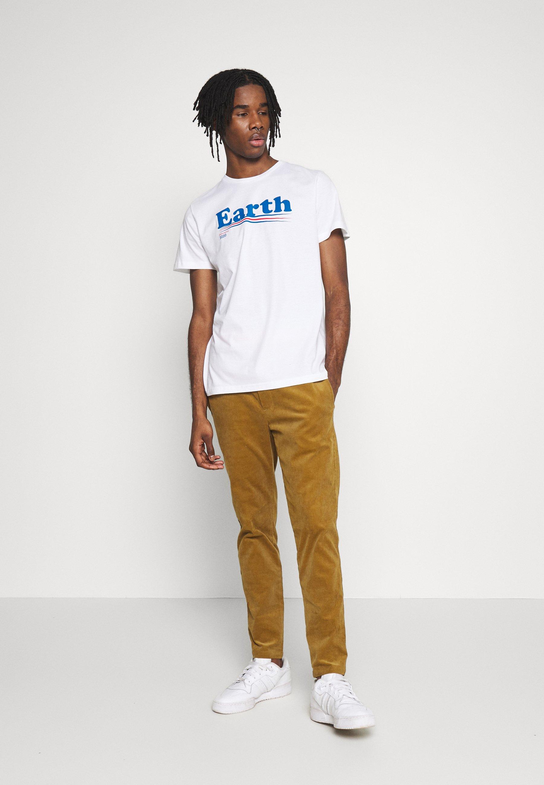 Dedicated T-SHIRT STOCKHOLM VOTE EARTH - T-shirt imprimé - white