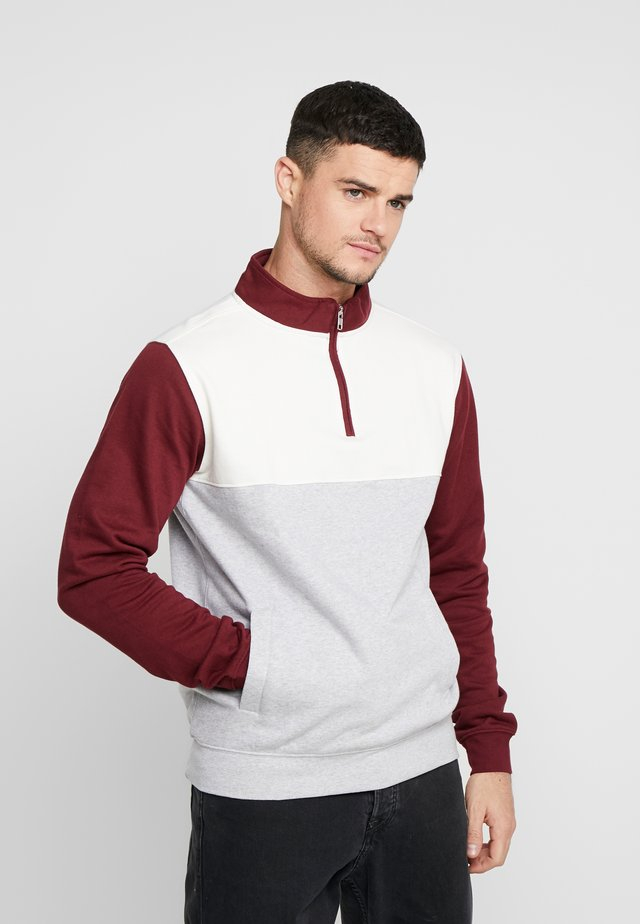 DUVED SPLIT - Sweatshirt - burgundy
