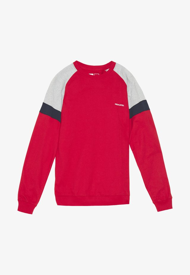 MALMOE SPLIT - Sweatshirt - red