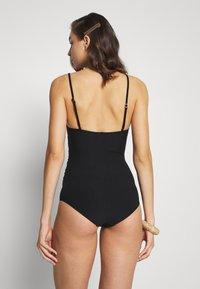 Dedicated - WRAP SWIMSUIT KLINTE - Swimsuit - black - 2