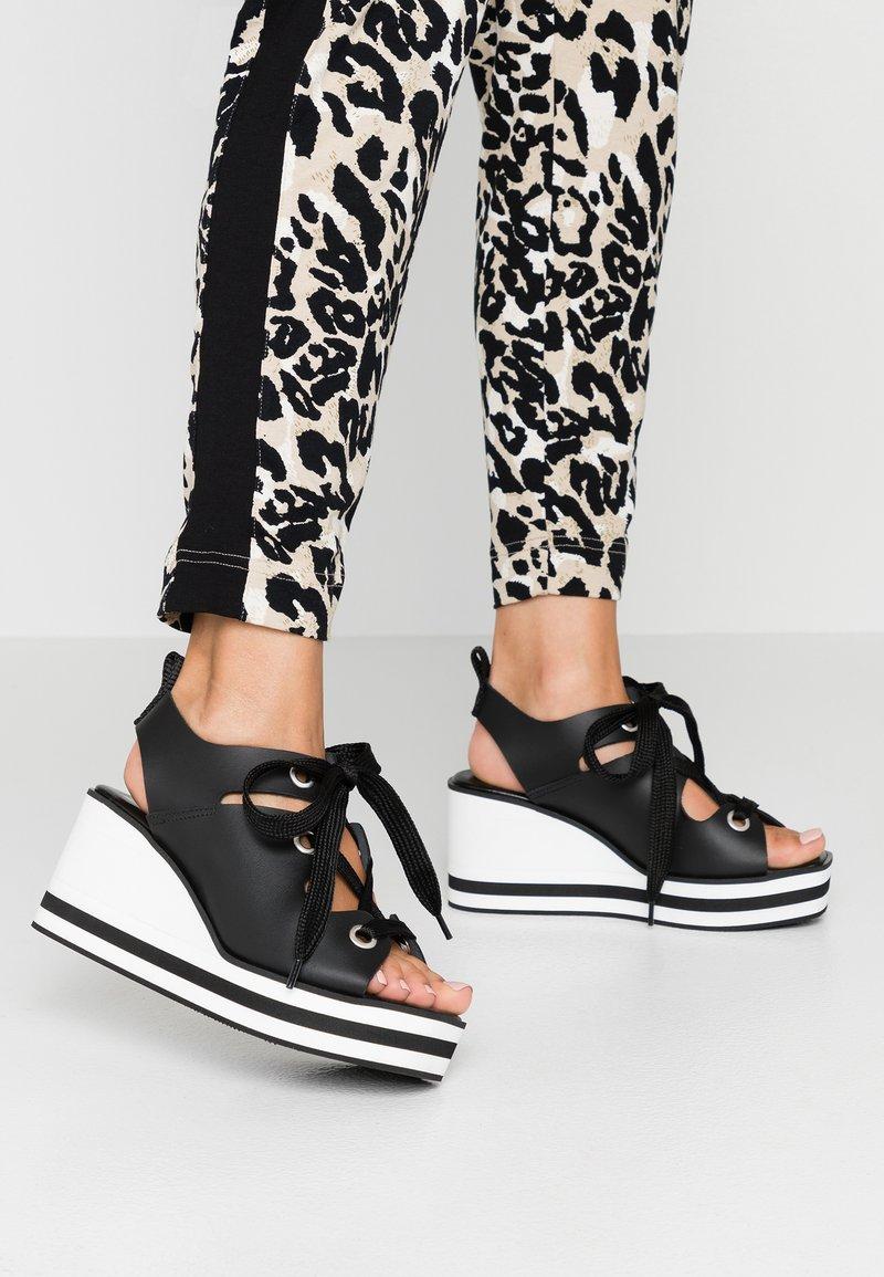 Depp - Platform sandals - black