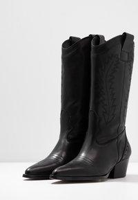 Depp - Cowboy- / Bikerboots - black - 4