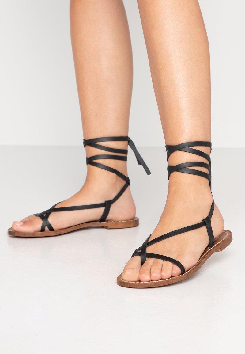 Depp - T-bar sandals - black