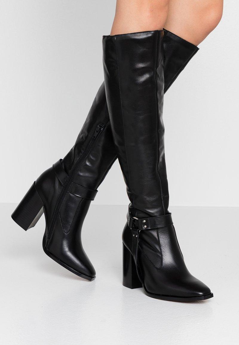 Depp - High heeled boots - black
