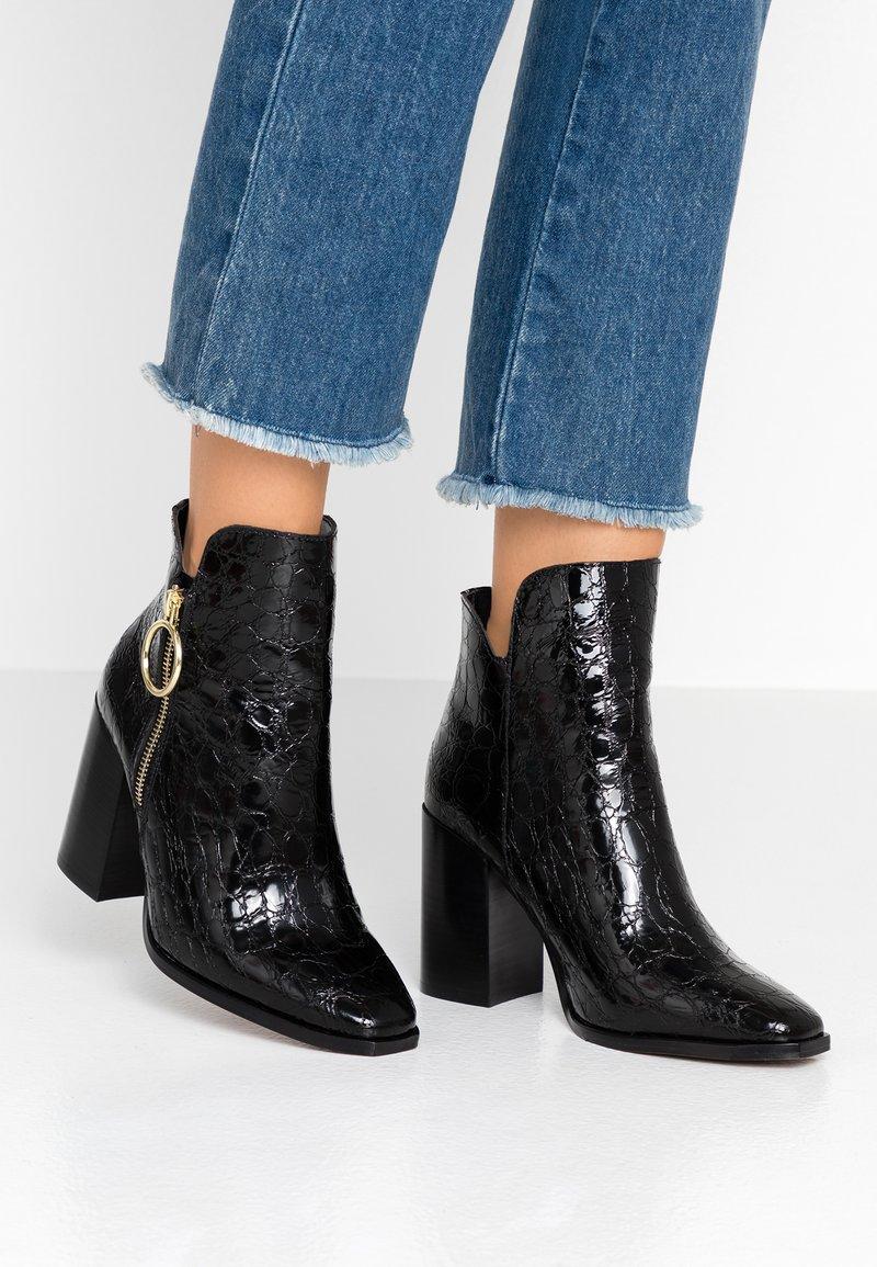 Depp - High heeled ankle boots - black