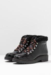 Depp - Šněrovací kotníkové boty - black - 4