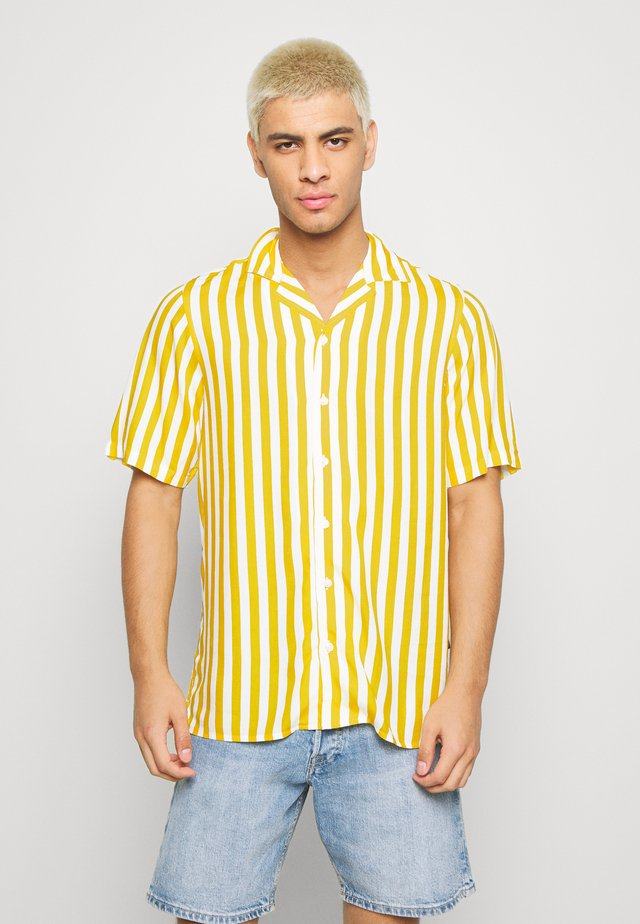 NEW CUBA SHIRT - Hemd - yellow/ white