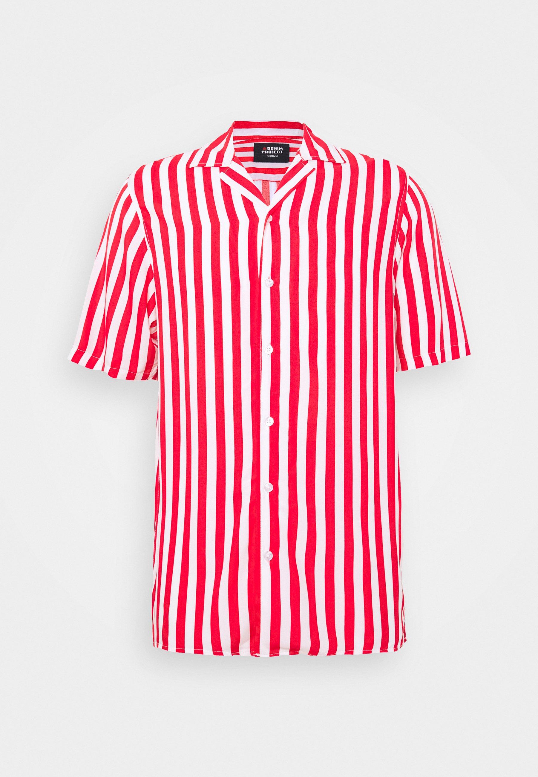 Denim Project NEW CUBA SHIRT - Koszula - red/white