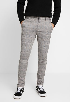 PONTE ROMA CHECK - Broek - grey