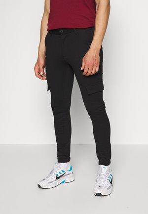 PONTE - Pantalon cargo - black