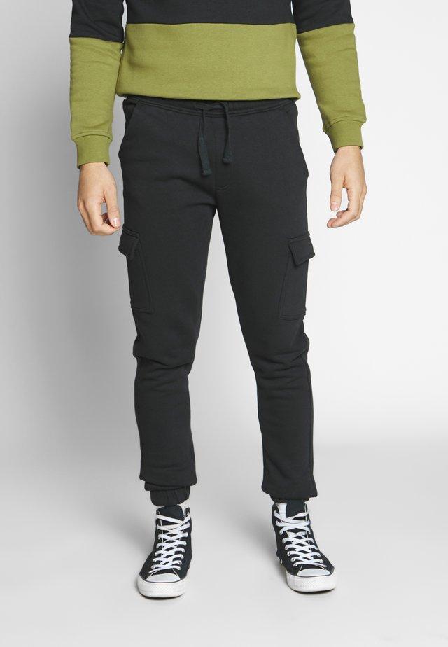 MENE - Tracksuit bottoms - black