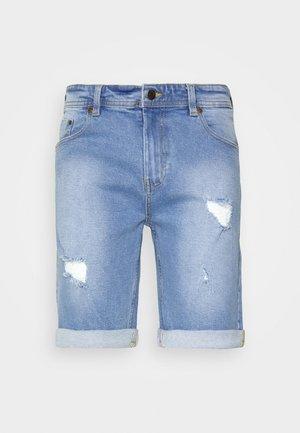 Denim shorts - light blue destroy