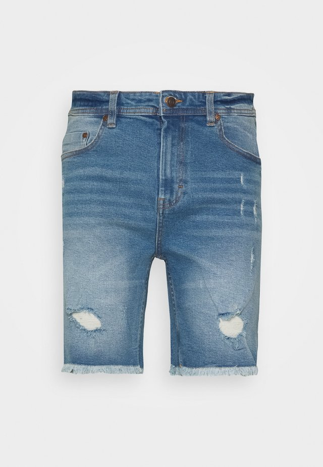 Jeans Short / cowboy shorts - blue heavy