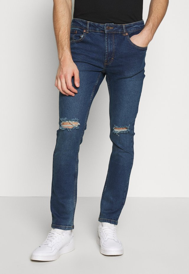 KNEEHOLE - Jeansy Skinny Fit - blue