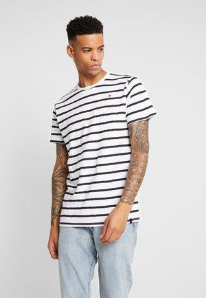 STRIPE TEE - T-shirt med print - white black strip