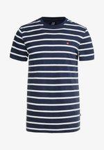 STRIPE TEE - T-shirt con stampa - navy/white