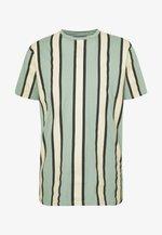 RAMIREZ STRIPE TEE - T-shirt con stampa - black/green