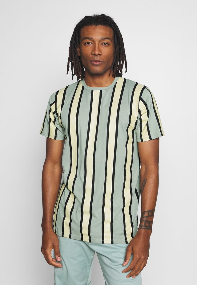 RAMIREZ STRIPE TEE - T-Shirt print - black/green