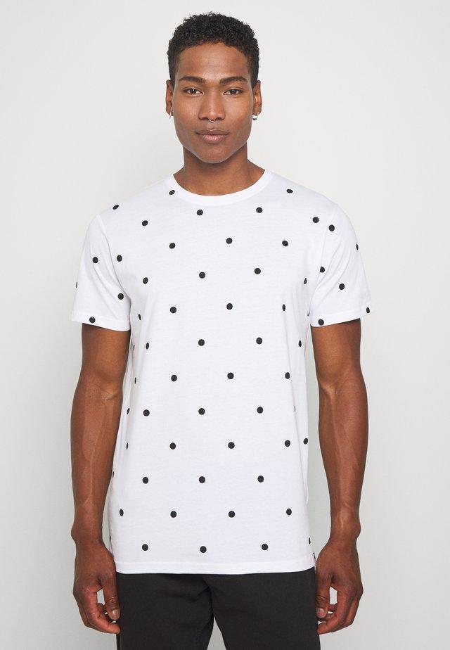 DOT TEE - T-shirts med print - white/black