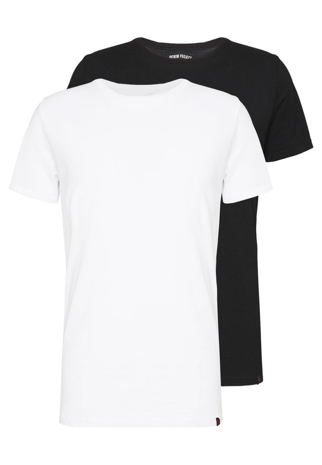 PABLO 2 PACK  - T-Shirt basic - black/white