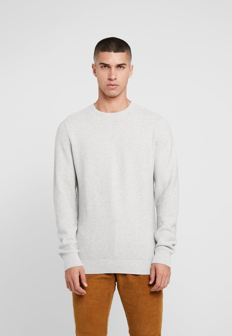 Denim Project - KABIR  - Stickad tröja - light grey