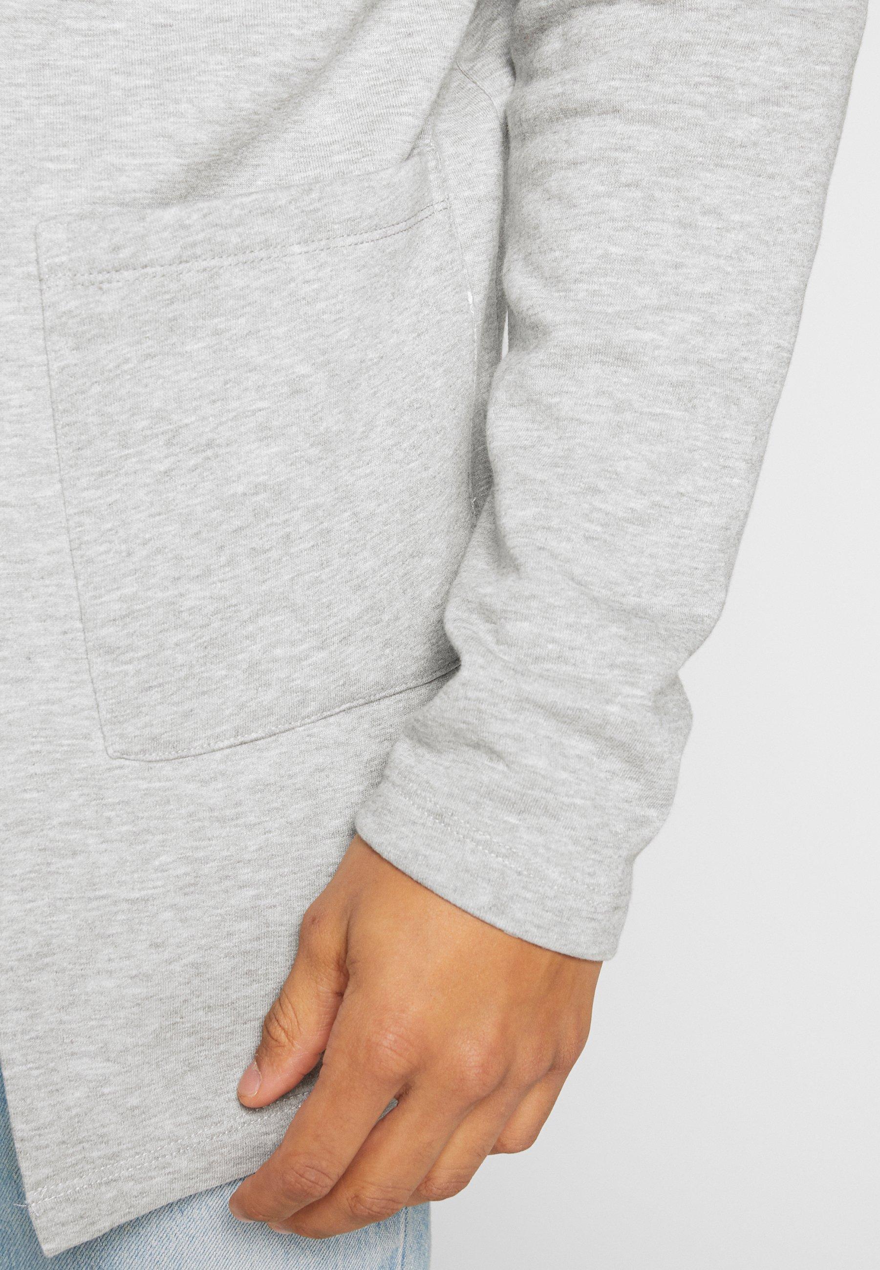 Denim Project Lala - Zip-up Hoodie Mottled Light Grey UK