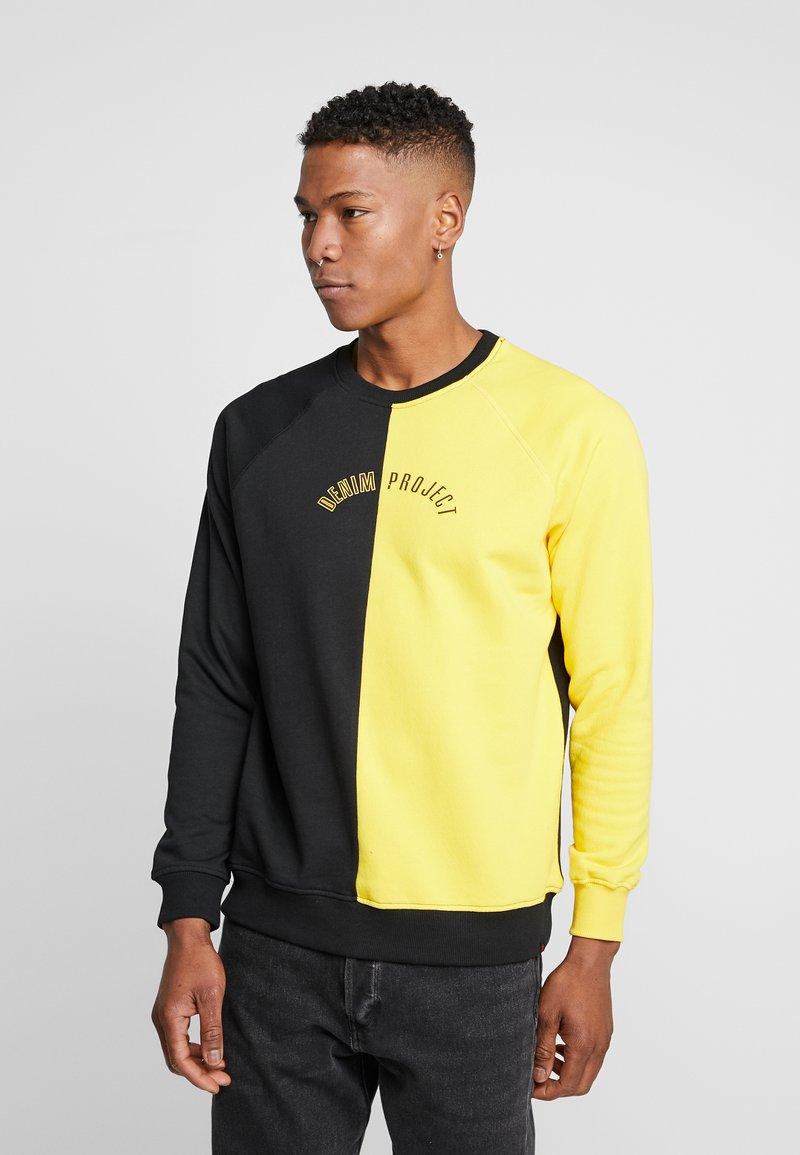 Denim Project - CREW - Sweatshirt - black/yellow
